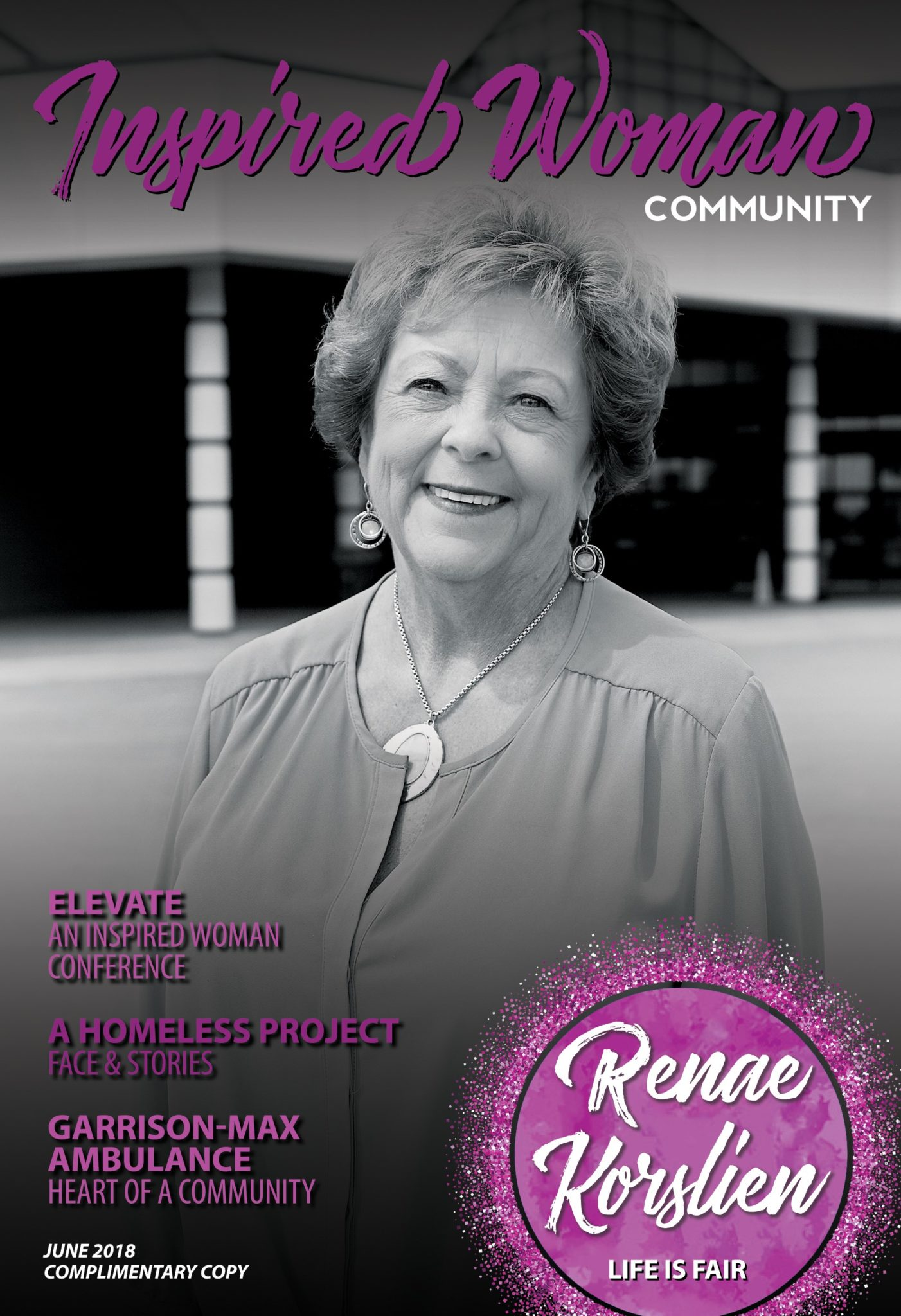 Renae Korslien, Inspired Woman Magazine Cover June 2018 Cover Story